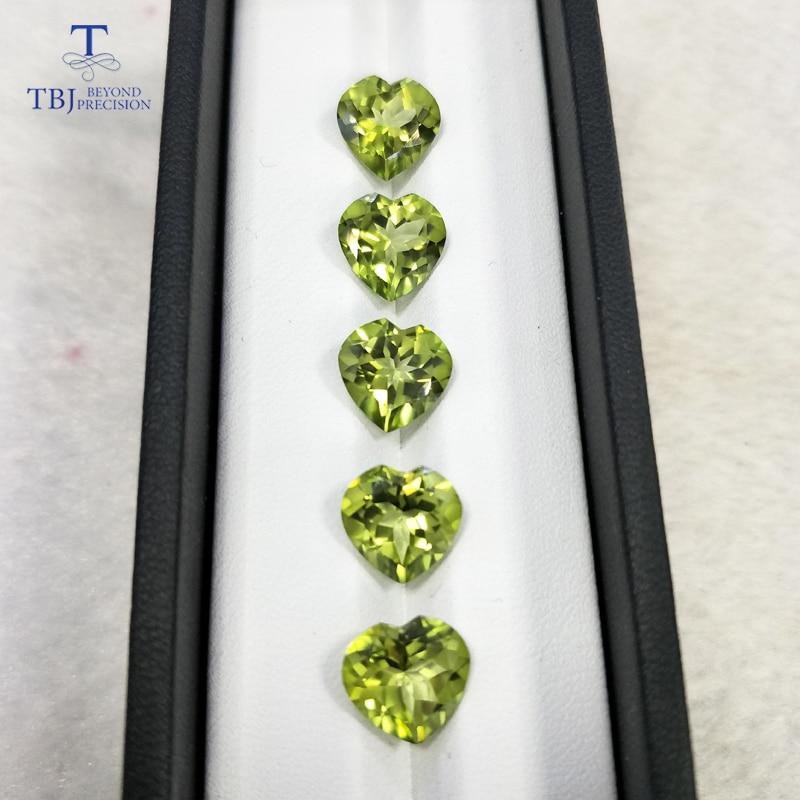 Tbj, натуральный оливково-зеленый топаз hs10.0 ard 4ct для серебра 925 пробы или золота крепление для украшений, хороший цвет блестящие натуральные с...