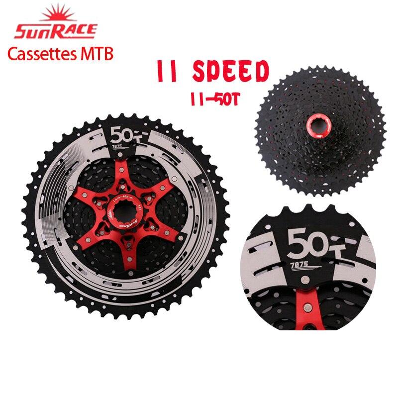 Sunrace 11 velocidade csmx80 mountain bike cassete roda dentada se encaixa shimano sram 11-50t