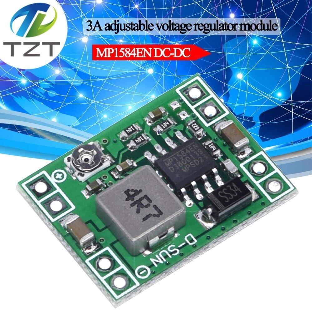 TZT XM1584 módulo de fuente de alimentación de reducción de DC-DC de tamaño Ultra pequeño 3A Módulo de reducción ajustable super LM2596