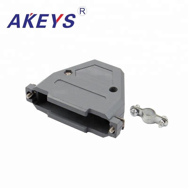 8 piezas de la cáscara de plástico de Latop DB37 a USB AM VGA Audio y vídeo interfaz Gray Shell