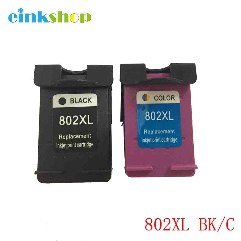 Einkshop 802 802xl Cartucho de Tinta Remanufaturados Para HP802XL Para hp Deskjet 1000 1010 1050 1510 1511 2000 2050 3050 3512 4500
