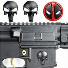 3D Каратель Череп Дэдпул магвелл металлическая наклейка значок наклейка для AR15 AK47 M4 M16 страйкбольная винтовка пистолет Охотничьи аксессуары