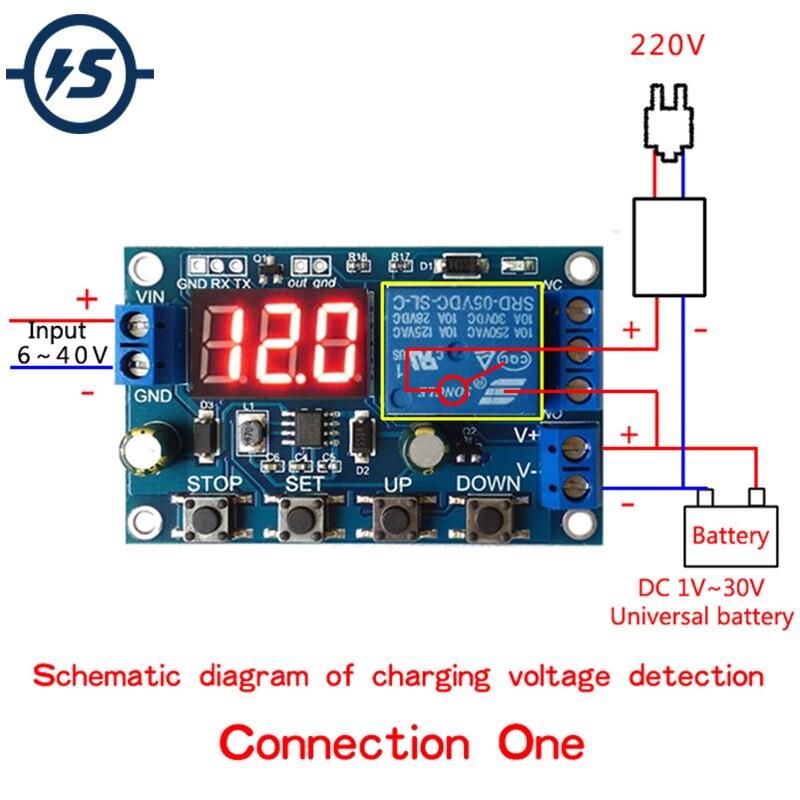 Модуль зарядного устройства для аккумулятора, разрядная плата низкого напряжения, Прецизионная плата для защиты от перенапряжения, автоматическое отключение модуля, 6-40 в пост. Тока