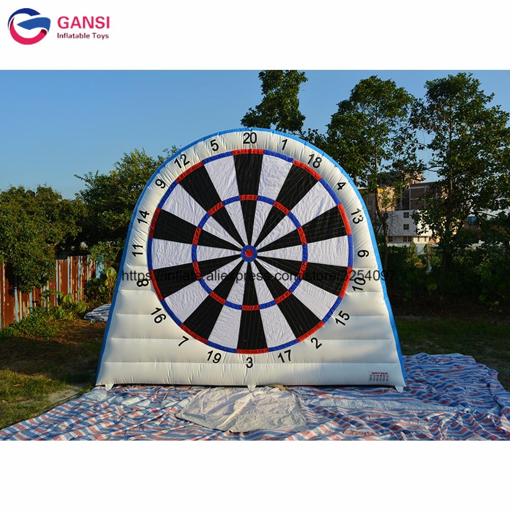 3,6 m de altura inflable fútbol diana para dardos juego de pvc de 0,55mm Diana inflable objetivo con bolas