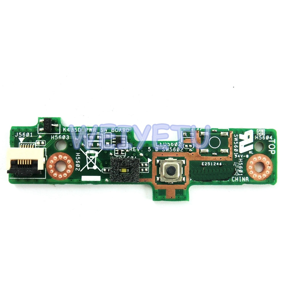 K43SD PWR_SW PLACA Power Switch Button Board Para ASUS A43S X43S K43S K43SD K43SV K43SJ K43E K43SM Laptop motherboard
