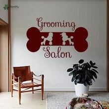 YOYOYU autocollant Mural vinyle décoration murale chien toilettage Salon Muursticker caniche Mural Art amovible autocollant Mural YO280