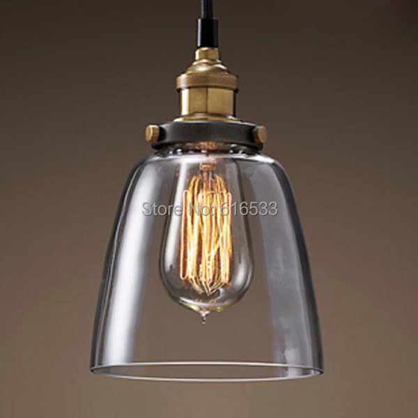 RH Vintage Loft Industrial American Lustre Glass Edison Pendant Lamp Kitchen Dinning Living Room Modern Home Decor Lighting