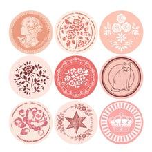 90pcs Lovely Rose Seal sticker Pink Flower Cake Packaging Sealing Label Sticker Baking DIY Gift Bag Candy Box Hand made Decor