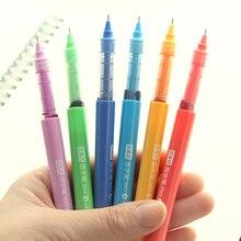 7 قطعة/الوحدة الأسطوانة الكرة القلم لون الحبر 0.5 ملليمتر حقنة عبوة هلام الأقلام توقيع مكتب اكسسوارات اللوازم المدرسية القرطاسية EB663