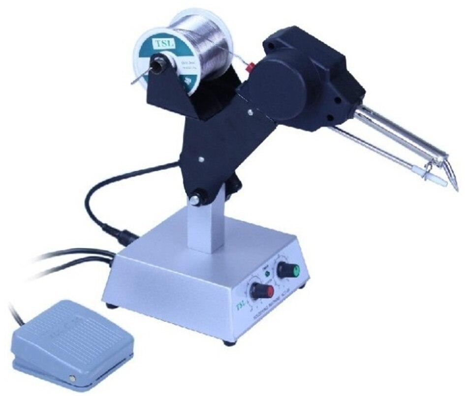 Máquina de alimentación de estaño automática, soldador de temperatura constante, Teclast iron HCT-80, máquina de soldadura de pie multifunción