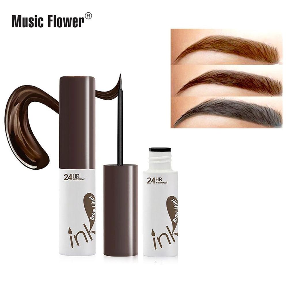 Flor de la música 5 colores líquido tatuaje morir ceja maquillaje Natural marrón ojo cejas potenciadores impermeable de larga duración cejas Gel