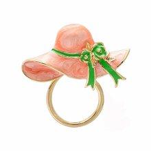 New Fashion Lovely Cute Lady Hat Magnetic Clip Holder Magnetic Eyeglass Holder Brooch Pin Women For Women Design Christmas Gift