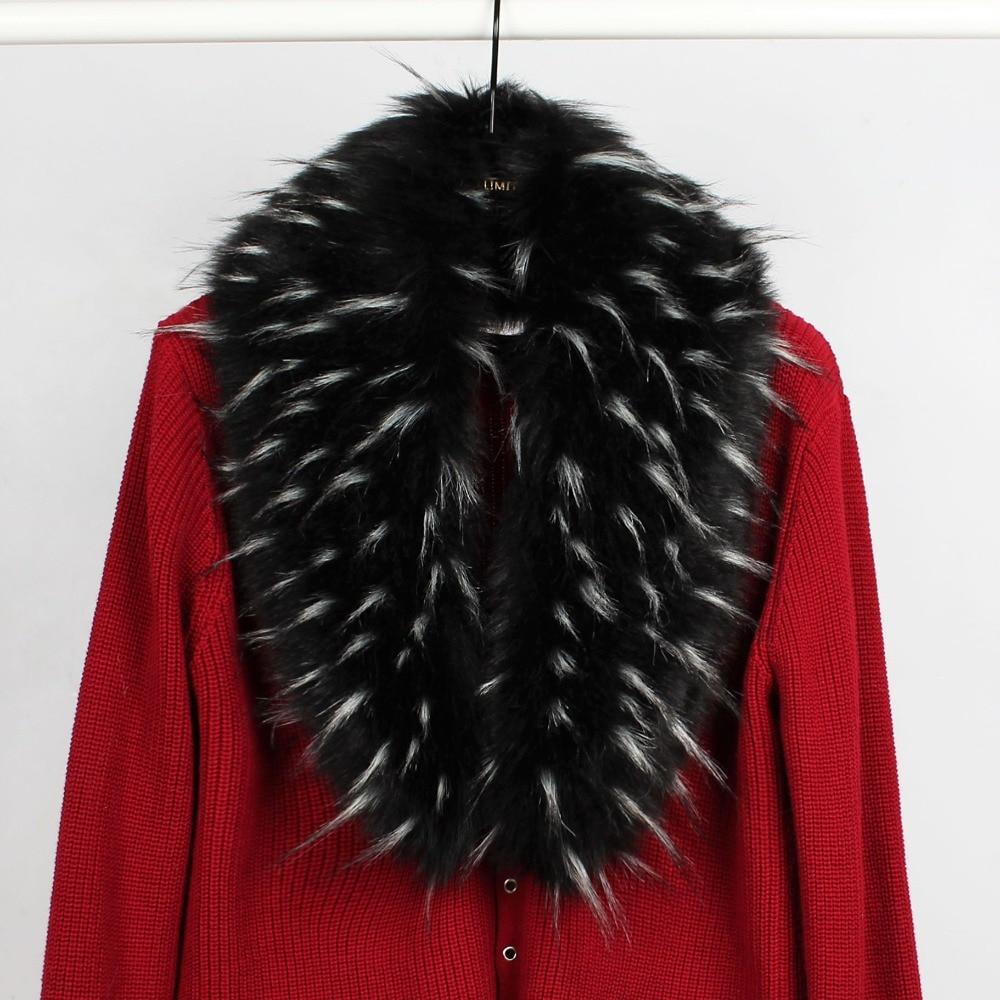 SC193 2018 New Fashion Women High Quality Hang Dye Fur Warm Ring Autumn Multicolor Shawl Winter Faux Fur Detachable Collar