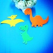 Rljlife matrices de découpe en métal   Trois dinosaures, pour Scrapbook album décoration de la maison, pochoirs de gaufrage, matrices coupées, 3 pièces/ensemble