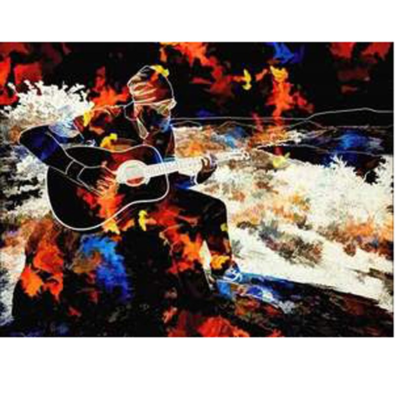 Diy Diamond Painting World Full Drill Square Round Diamonds Bright Rhinestones Home Decor Paint Craft Painting Music In The Fall