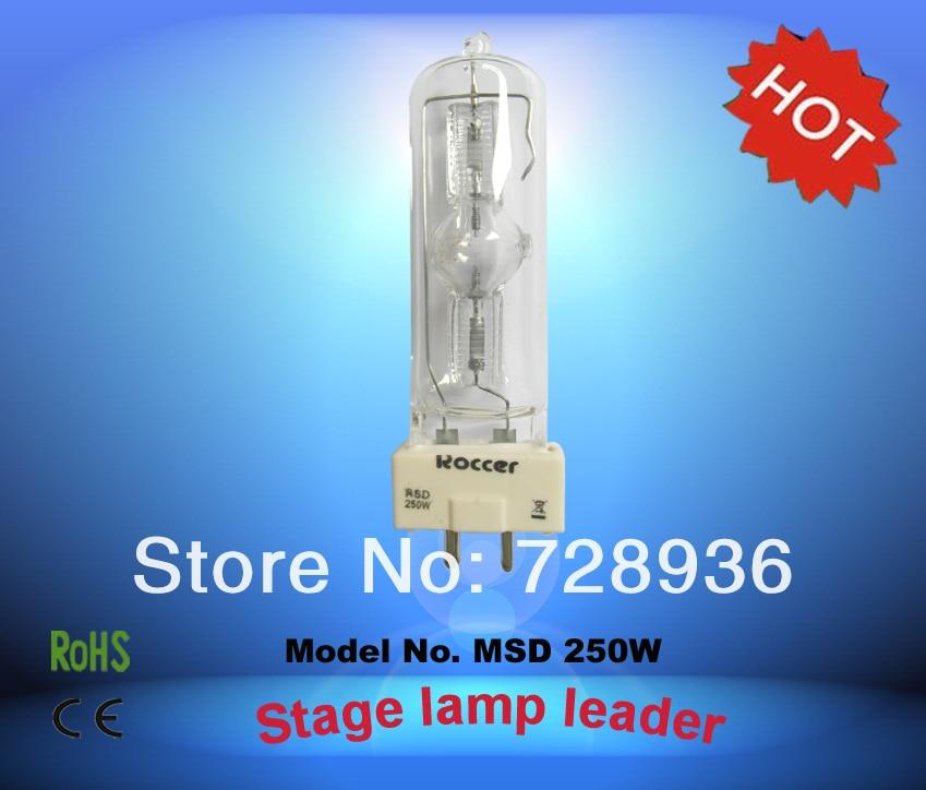 Roccer MSR250W GY9.5 para lámpara de halogenuros metálicos 250 W bulbo msr250 MSR 250