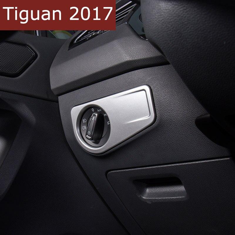 Auto-Styling ABS Scheinwerfer Einstellen schalter Abdeckung Trim Innen Form Zubehör Für Volkswagen Tiguan 2016 2017 Auto Aufkleber