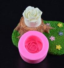 1PC 3D Rose forme Silicone moule Fondant moule chocolat sucre moule gâteau décoration ensemble doux amour Fondant outil H352