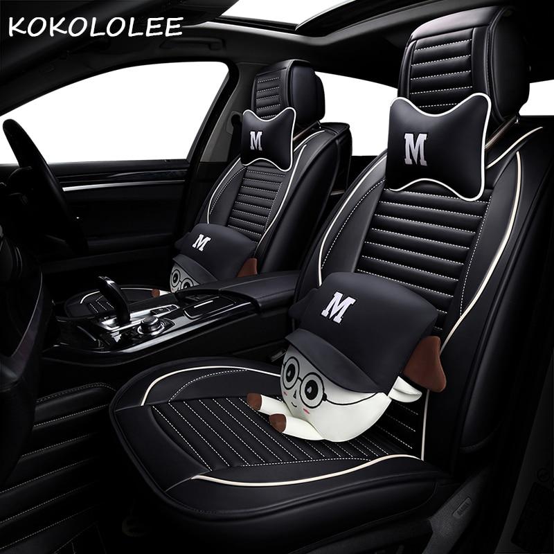 KOKOLOLEE pu car seat cover set for volvo c30 c50 s40 s60 s80 v40 v50 v70 xc70 xc50 xc30 xc40 xc90 auto accessories car-styling