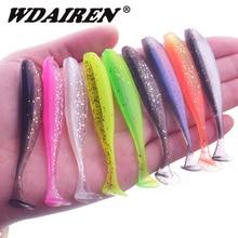 WDAIREN 5cm 7.5cm 9.5cm Jigging Wobblers Easy Shiner esche da pesca doppi colori artificiali Silicone esca morbida Bass Carp Tackle