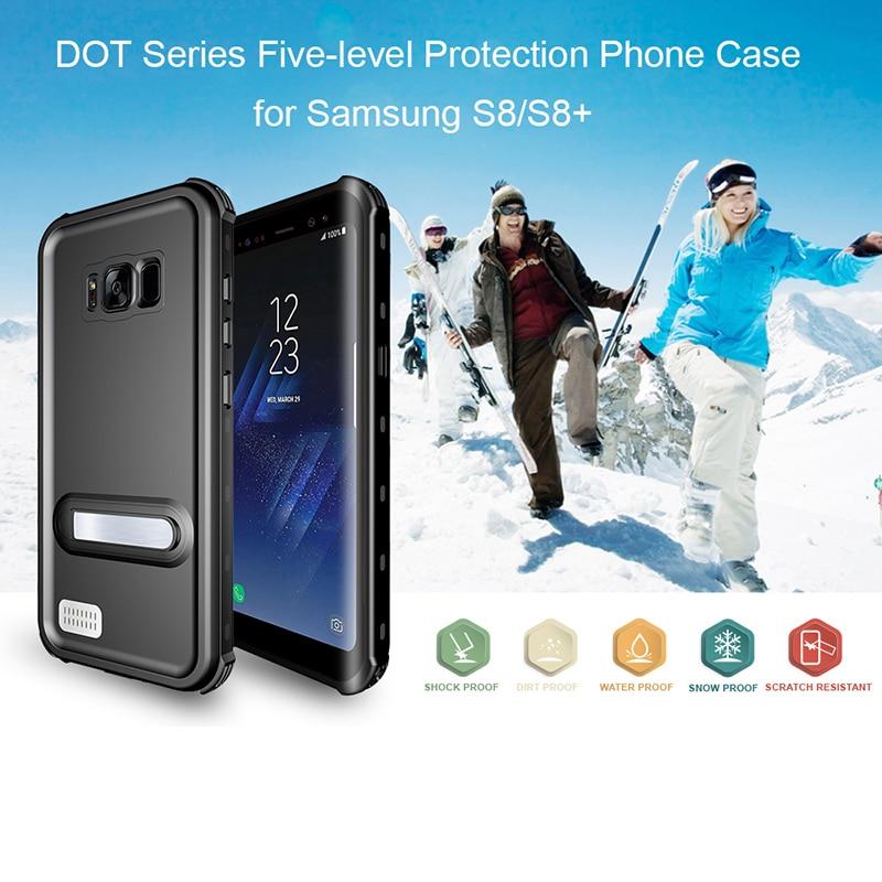 IP68 impermeable buceo funda para samsung S8 S8 Plus cubierta a prueba de golpes teléfono funda para samsung Galaxy S8 Plus soportes magnéticos