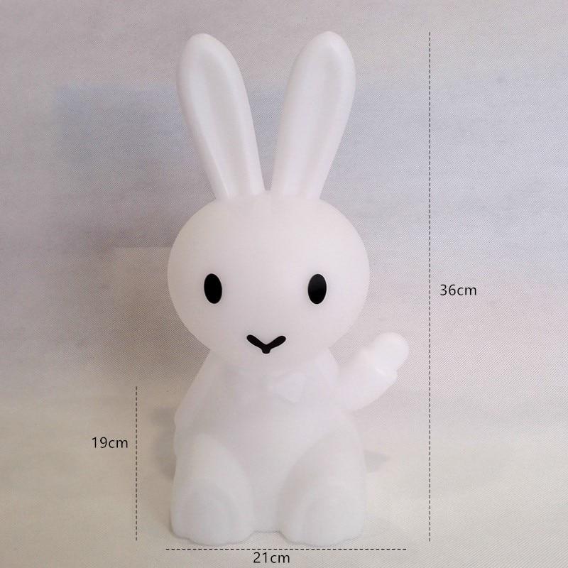 36cm Bunny Hare Rabbit Night Light Children Kids Baby Christmas Birthday Gift Toy Living Room Bedside Desk Dimmable Table Lamp enlarge