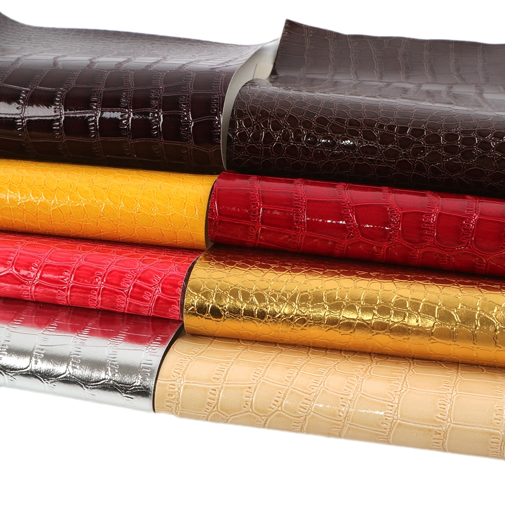 Tejido de piel sintética falsa con textura geométrica de 20x34 cm, materiales DIY hechos a mano para bolso zapatos lazo para el pelo, 1Yc6406