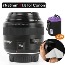 Objectif de caméra YONGNUO YN85mm F1.8 pour monture Canon EF EOS 85mm AF/MF Standard téléobjectifs moyens objectif de caméra à focale fixe