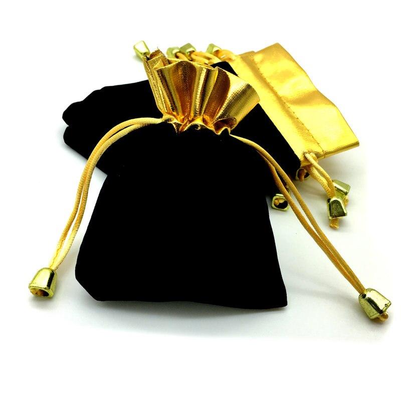100 unids/lote de alta calidad Pullslot bolsa de regalo Phnom Penh negro accesorios de Navidad 120x95mm B-030