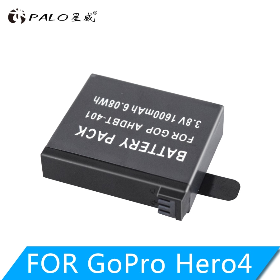 Palo 1600 mah AHDBT-401 bateria akku para gopro hero 4 baterias ir pro hero4 bateria ahdbt 401 acessórios da câmera de ação
