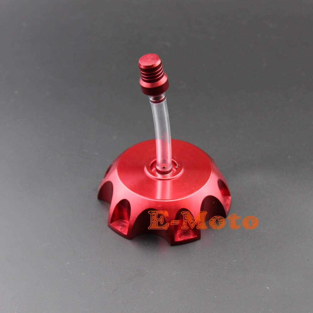 Czerwone ze stopu CNC paliwo gazowe zbiornik paliwa Cap + odpowietrznik motocykl motocykl Dirt pitbike