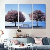 modern nordic decoration landscape painting canvas pictures for living room with no frame posters and prints home decor 3 piece