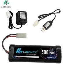 Chargeur Rechargeable de la batterie 7.2V 5000mAh Ni-MH 7.2v avec la prise de Kep-2p de connecteur de Tamiya pour le véhicule tout-terrain de bateaux de voitures de course de RC
