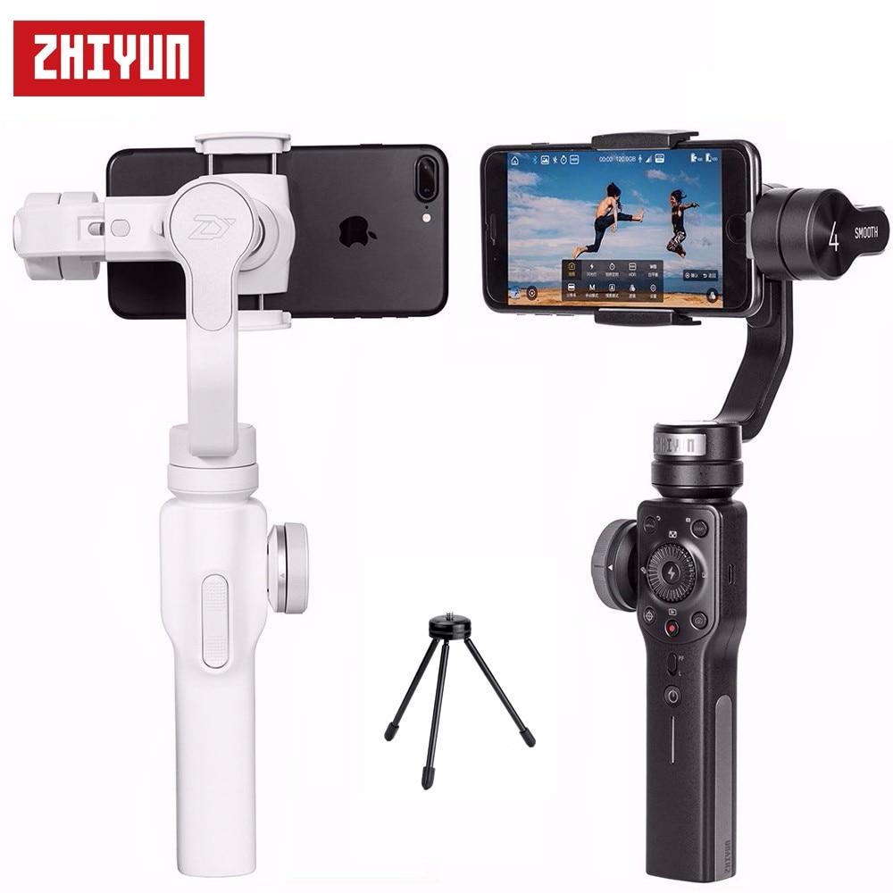 Zhiyun Smooth 4 smoo4-مثبت جيمبال محمول باليد ، لهاتف iPhone X 8 7 Plus Samsung Galaxy S8 S8 S8 مع حامل ثلاثي القوائم