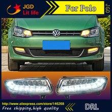 Livraison gratuite VW Polo 6000 2011 k 2012 DRL   Cadre de phare antibrouillard, style de voiture, feu jour pour VW Polo 2013