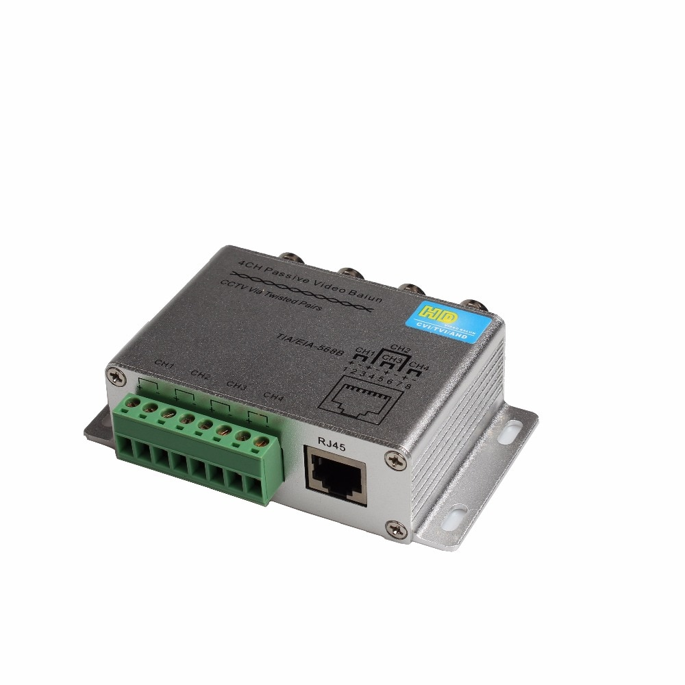 ESCAM 4CH 8CH Passive Video Balun For TVI CVI AHD Cameras CCTV Via Twisted Pairs UTP Video Balun 4CH Transceiver BNC To UTP RJ45 enlarge