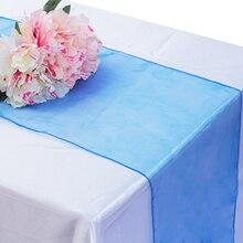 Мягкие сетчатые бегуны из органзы для свадебной вечеринки, банкета, украшения, принадлежности для стула, банты, золотое покрытие