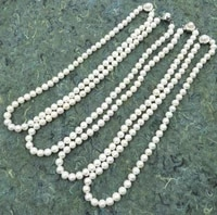 genuine 7 8mm white freshwater pearl necklace free shipping real pearl clasp