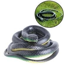 Cadeau délicat drôle Spoof Toys Simulation doux effrayant faux serpent horreur jouet pour événement de fête MAY17_35
