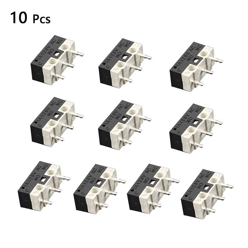 Urijk 10pcs/set Limit Switch Push Button Switch 1A 125V AC 2A 125V AC Mouse Switch 3Pins Micro Switch
