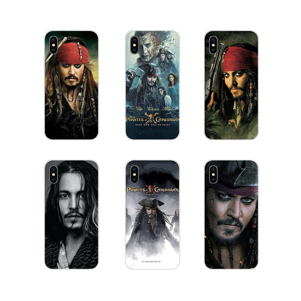 For LG G3 G4 Mini G5 G6 G7 Q6 Q7 Q8 Q9 V10 V20 V30 X Power 2 3 K10 K4 K8 2017 Silicone Case johnny depp Pirates of the Caribbean