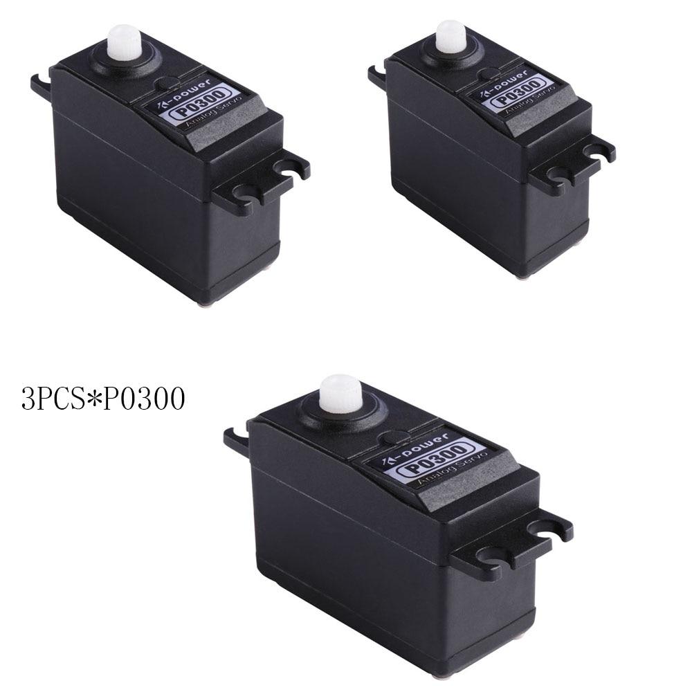 3 uds k-power P0300 Servo analógico 3kg JR enchufe engranaje de plástico servo tamaño estándar servo para RC modelo parte