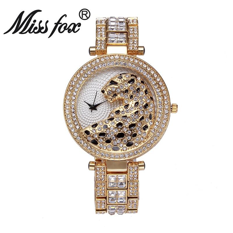 Relojes de cuarzo modernos de marca Miss Fox para mujer, reloj de pulsera de acero inoxidable para mujer