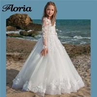 flower girl dresses for weddings 2018 newest kids evening dress flower ball gown first communion dresses for girls pageant gowns