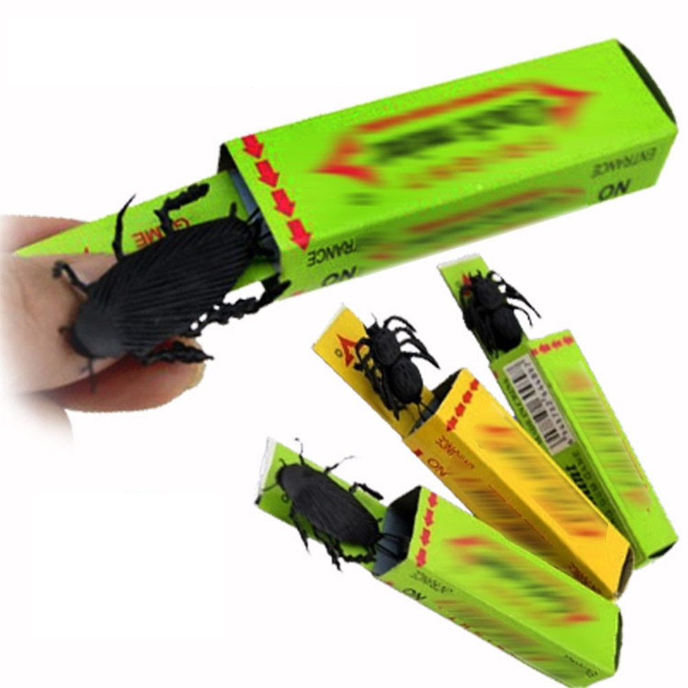 Sorpresa cucarachas Gum April Fools Day Spoof Person artilugios divertidos juguetes de Halloween regalo para broma Spoof Toys