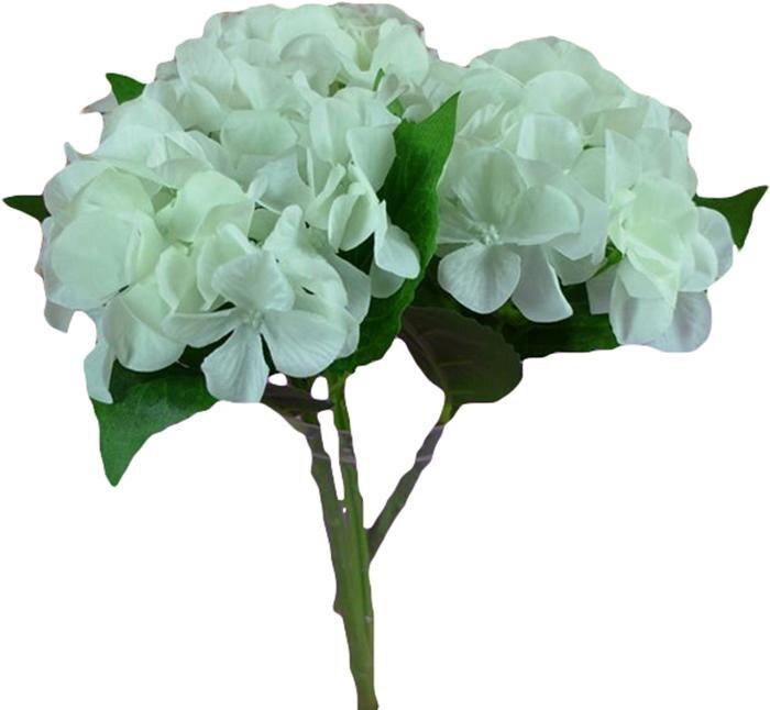 """Venta al por mayor, gran calidad, flor de hortensia Artificial, cabezas grandes individuales, 2 hojas (diámetro 6 """"), 6 colores para la decoración de la Mesa del hogar"""