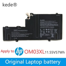 Kede 11.55V 57wh Dorigine OM03XL batterie dordinateur portable Pour HP Elitebook x360 1030 G2 HSTNN-IB7O HSN-I04C 863167-171