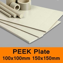 PEEK Sheet Plate Polyetheretherketone Board ICI Thermoplastic Materials CNC Cutting 2-10mm 100x100mm 150x150mm All Size in Stock