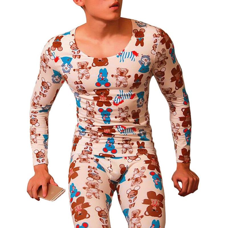 Ropa interior térmica para hombre, conjunto de ropa interior de Calzoncillos largos, camisa de compresión, ropa interior estampada para hombre, leggings, Calzoncillos largos