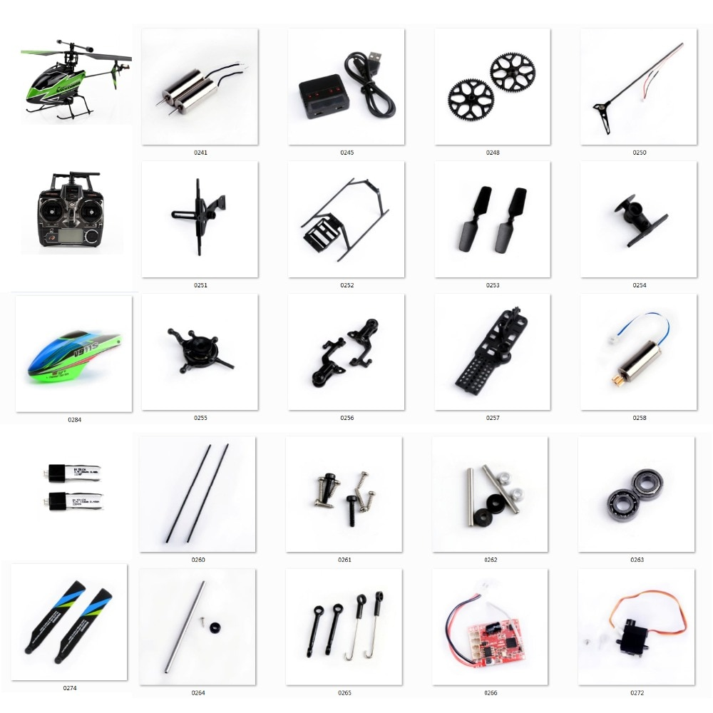 Wltoys RC Helicopter Spare Parts Kit V911S 4CH Helicopter Accessories Blades/Motor/Receiver/servo/Principal Axis for V966 V988 wltoys v911s rc helicopter 2 4g 4ch 6 aixs stunt gyroscope flybarless rtf 3 7v 250mah rtf bnf model toys lipo battery rc airplan